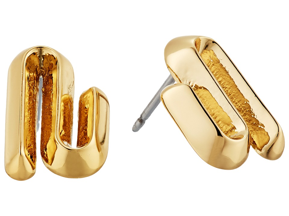 Eddie Borgo - Trace Studs Earrings (Gold) Earring