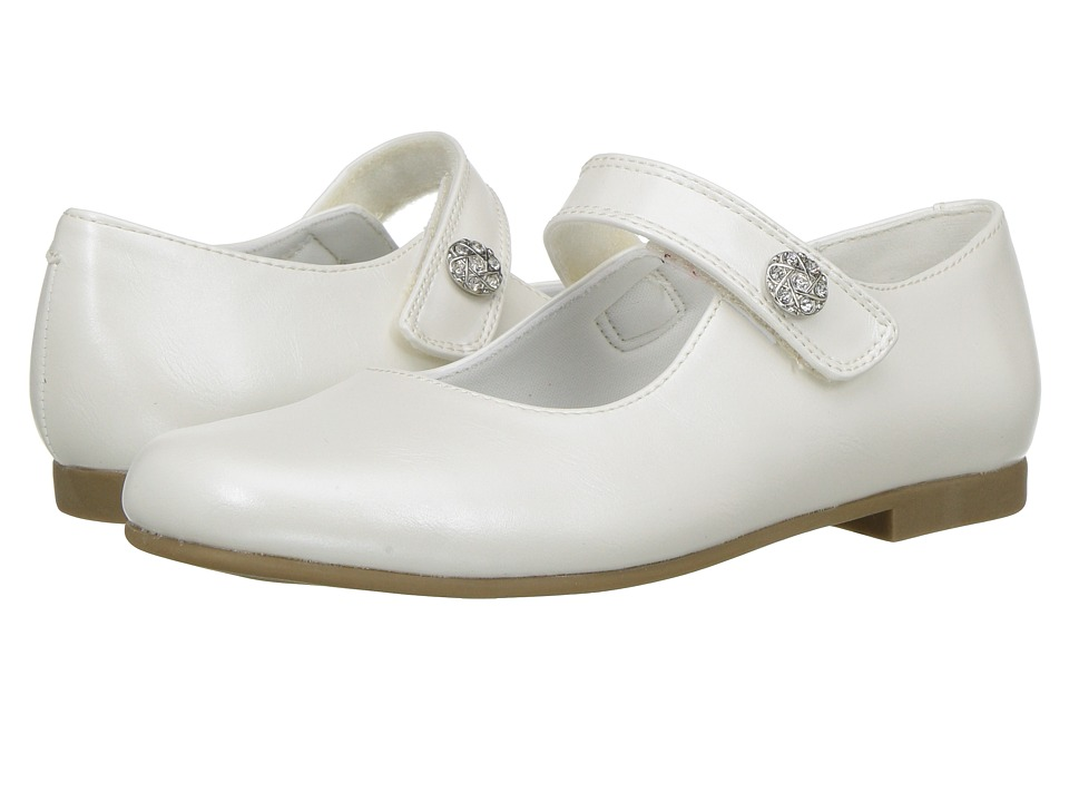 Rachel Kids - Jackie (Little Kid) (White Pearlized) Girls Shoes