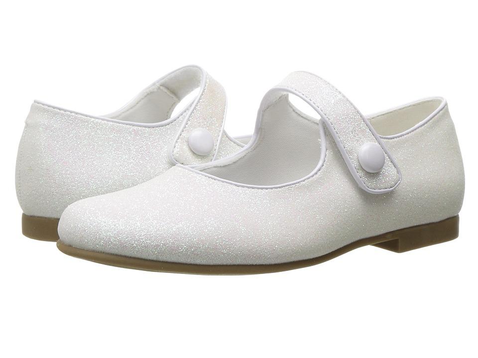 Rachel Kids - Halle (Little Kid) (White Glitter) Girls Shoes