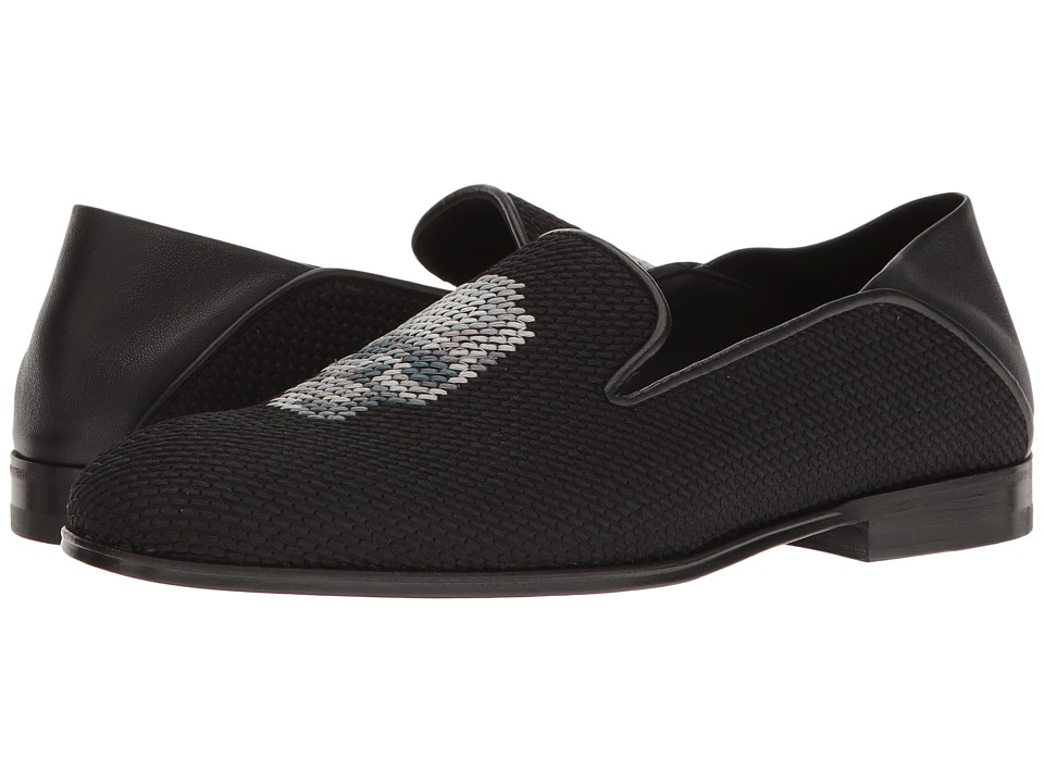 Alexander McQueen - Scarpa Tessu S.Cuoio (Black/Multi Grey/Black/Black) Women's Slip on Shoes