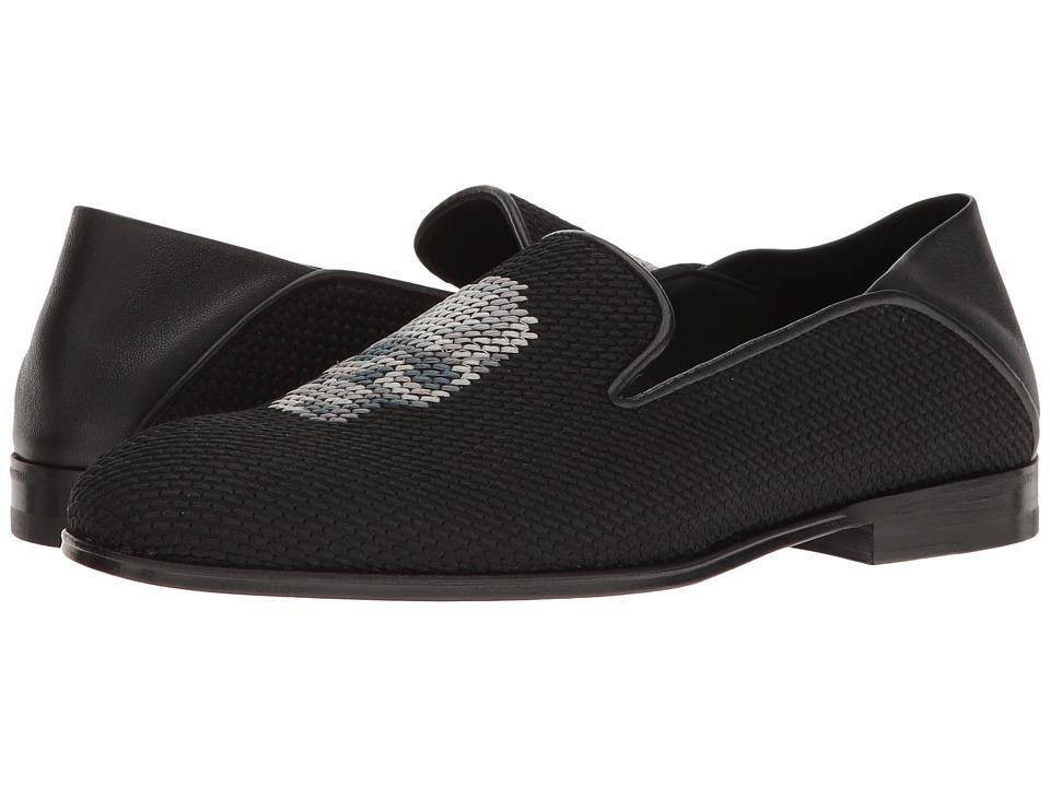 Alexander McQueen - Scarpa Tessu S.Cuoio (Black/Multi Grey/Black/Black) Women's Slip on Shoes