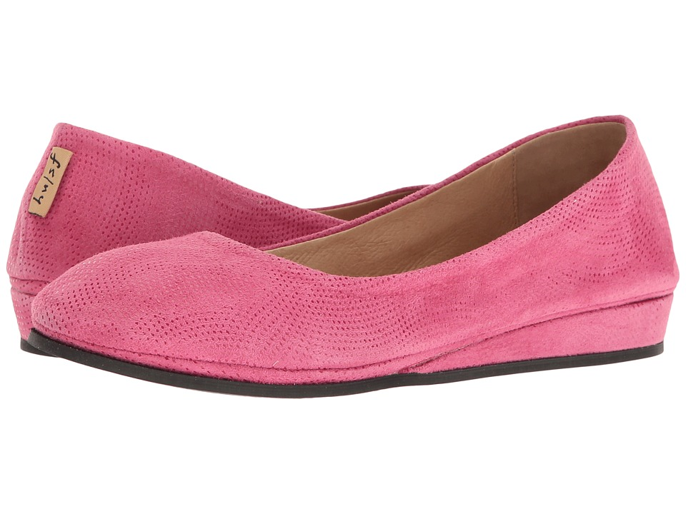 French Sole - Zeppa (Fuchsia Wave Suede) Women's Slip on Shoes