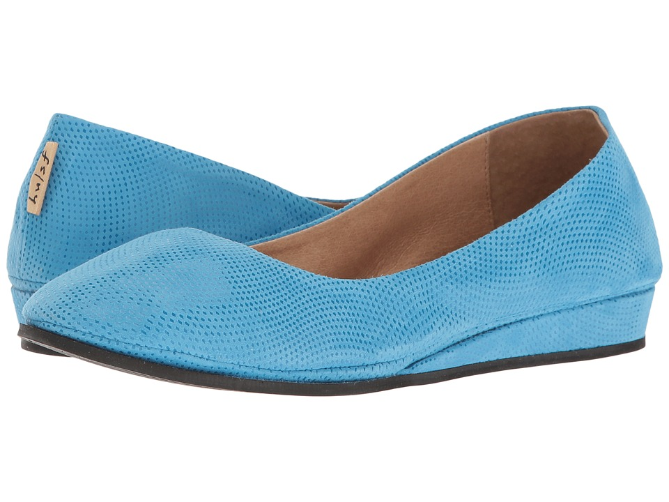 French Sole - Zeppa (Turquoise Wave Suede) Women's Slip on Shoes
