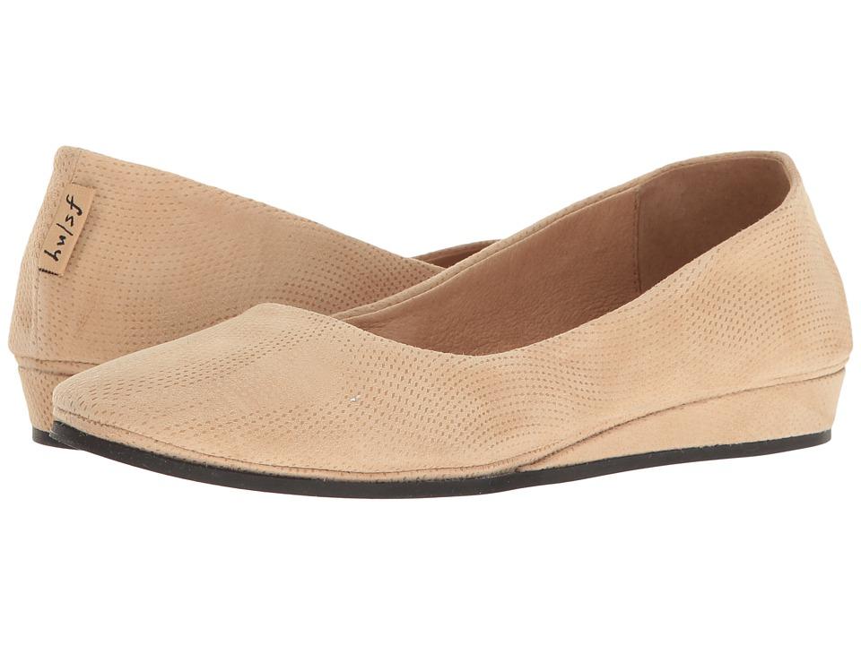 French Sole - Zeppa (Beige Wave Suede) Women's Slip on Shoes