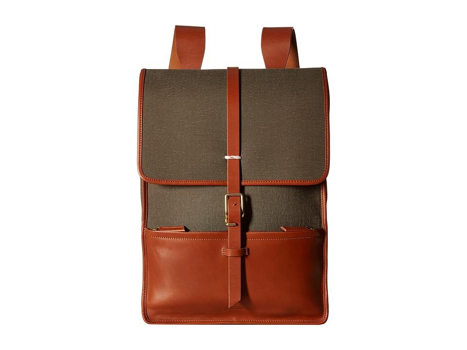 Miansai - Harbour Ruck Sack (Green/Cognac) Backpack Bags