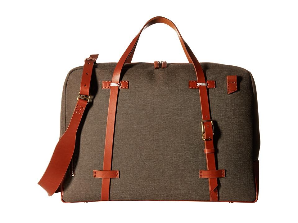 Miansai - Monroe Weekender (Green/Cognac) Weekender/Overnight Luggage
