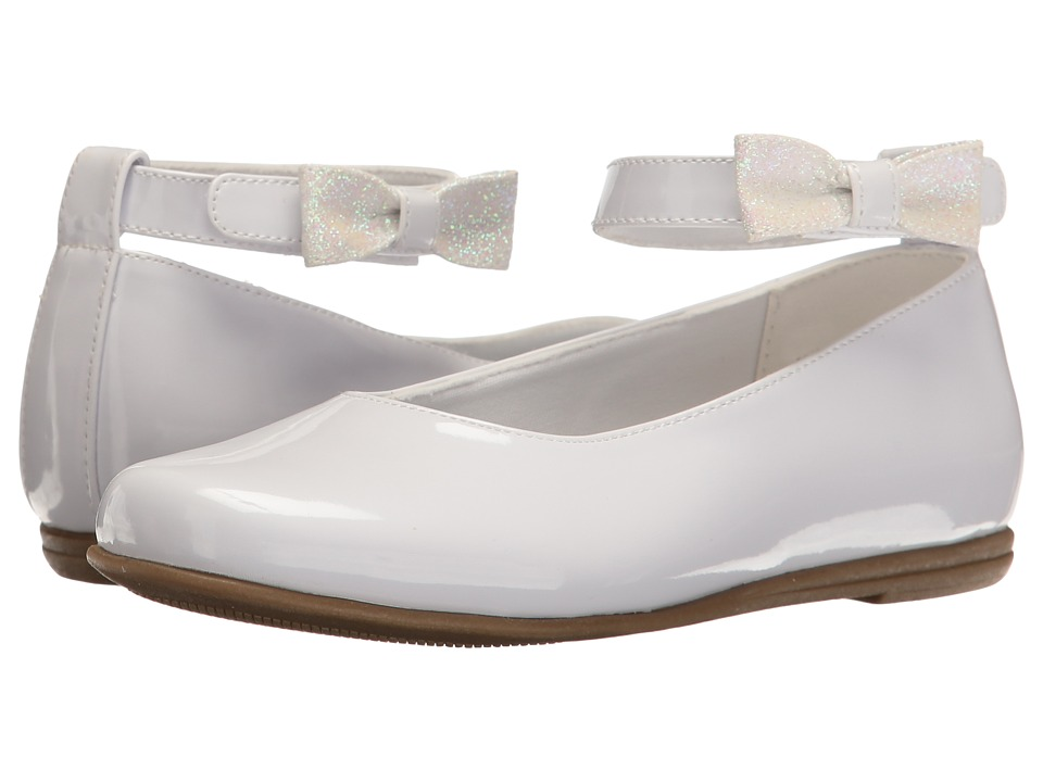 Rachel Kids - Louisa (Little Kid) (White Patent) Girl's Shoes