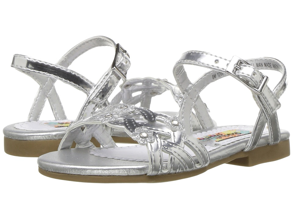 Rachel Kids Lil Julianne (Toddler) (Silver Metallic) Girl's Shoes
