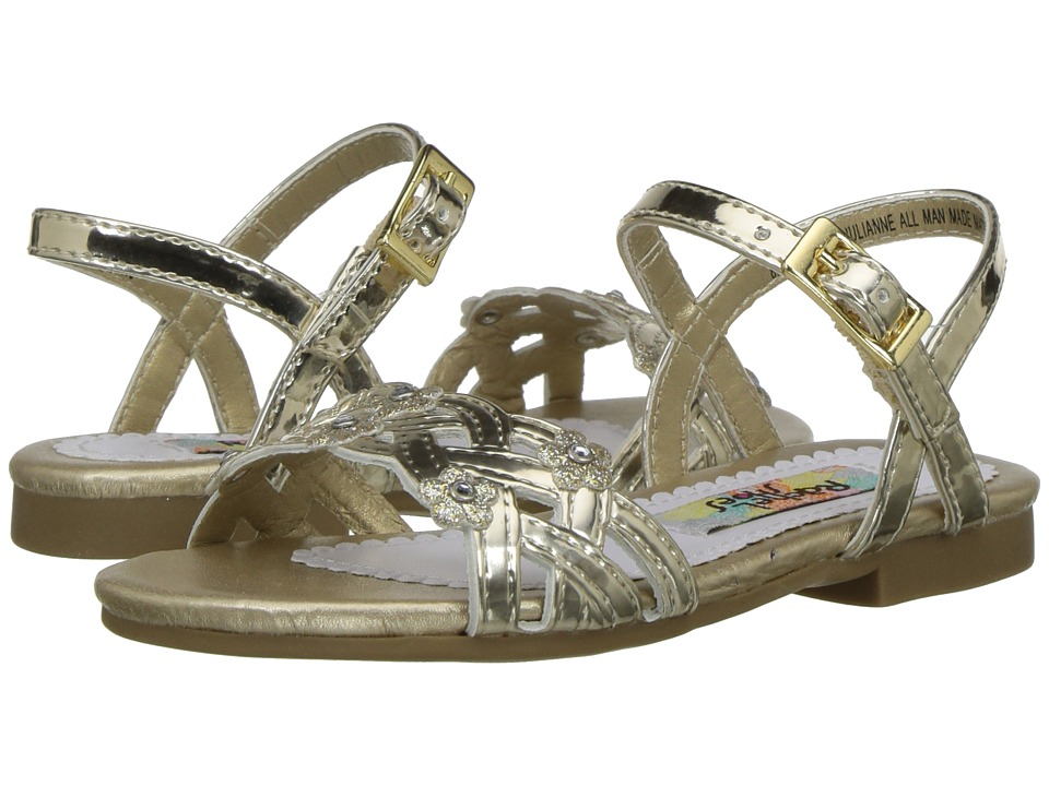 Rachel Kids Lil Julianne (Toddler) (Gold Metallic) Girl's Shoes