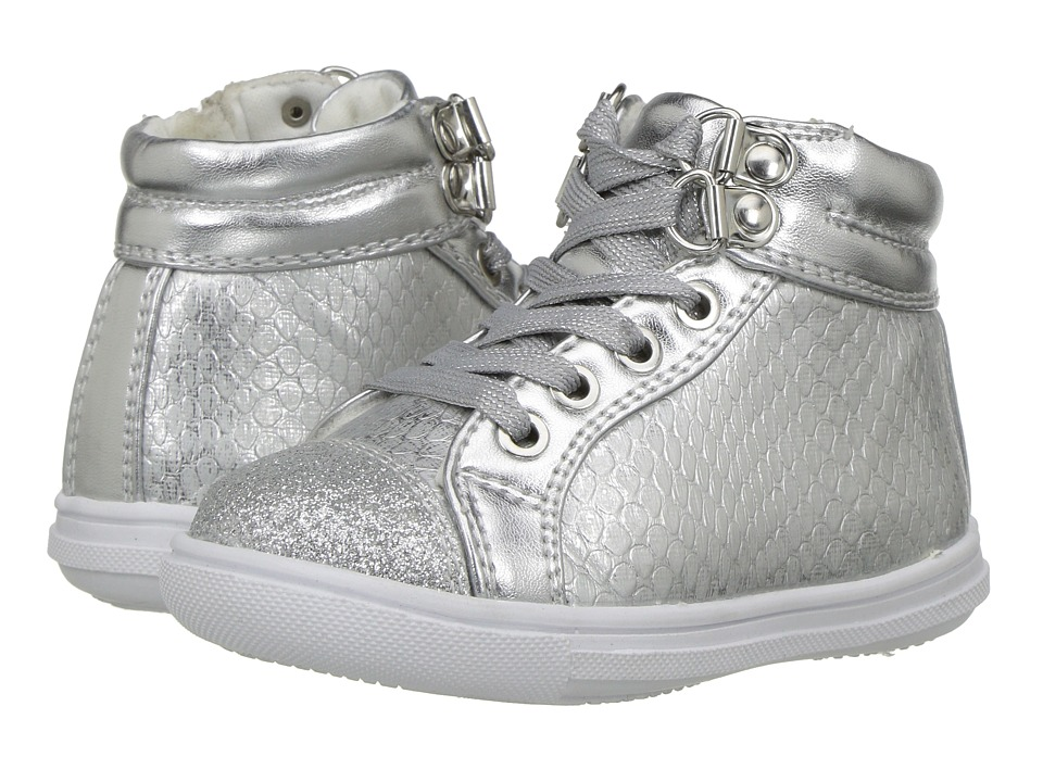 Rachel Kids - Lil Dallas (Toddler/Little Kid) (Silver) Girl's Shoes