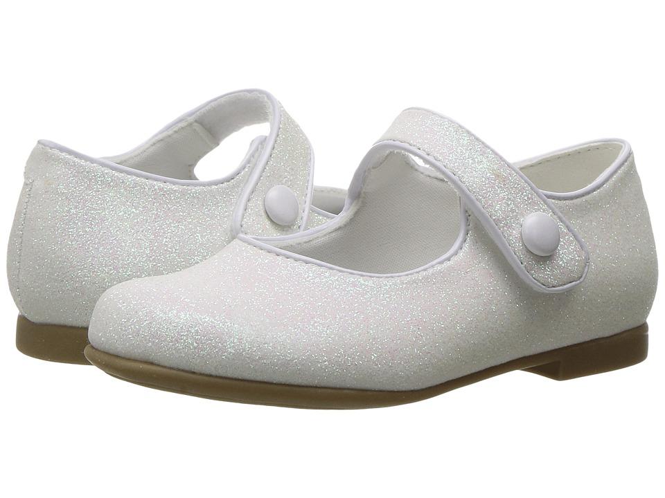 Rachel Kids - Lil Halle (Toddler) (White Glitter) Girls Shoes