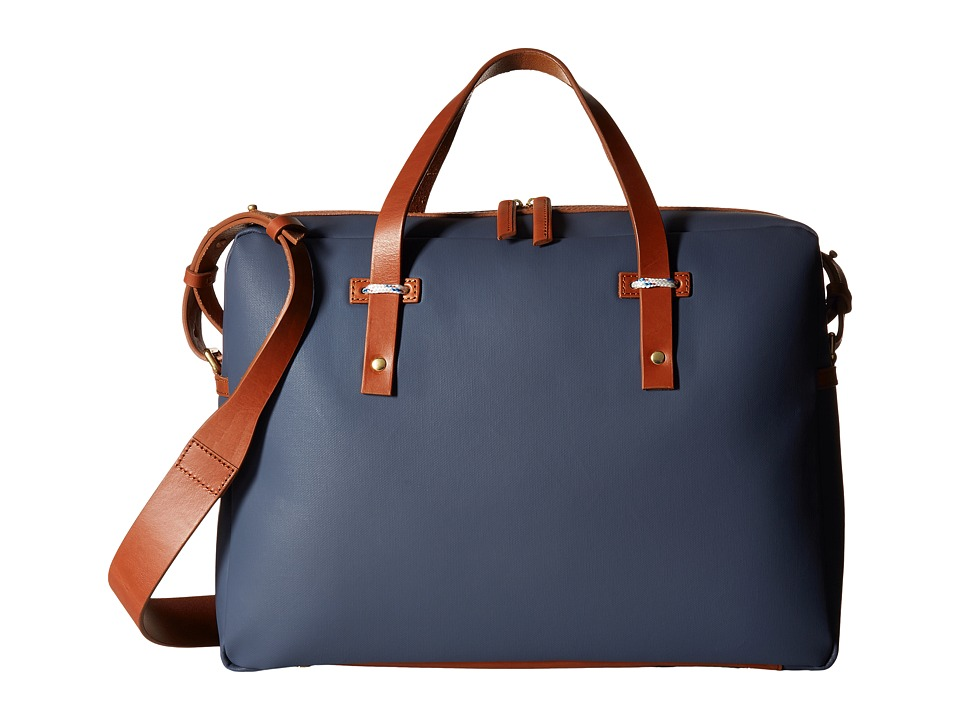 Miansai - Fulton Briefcase (Navy/Cognac) Briefcase Bags