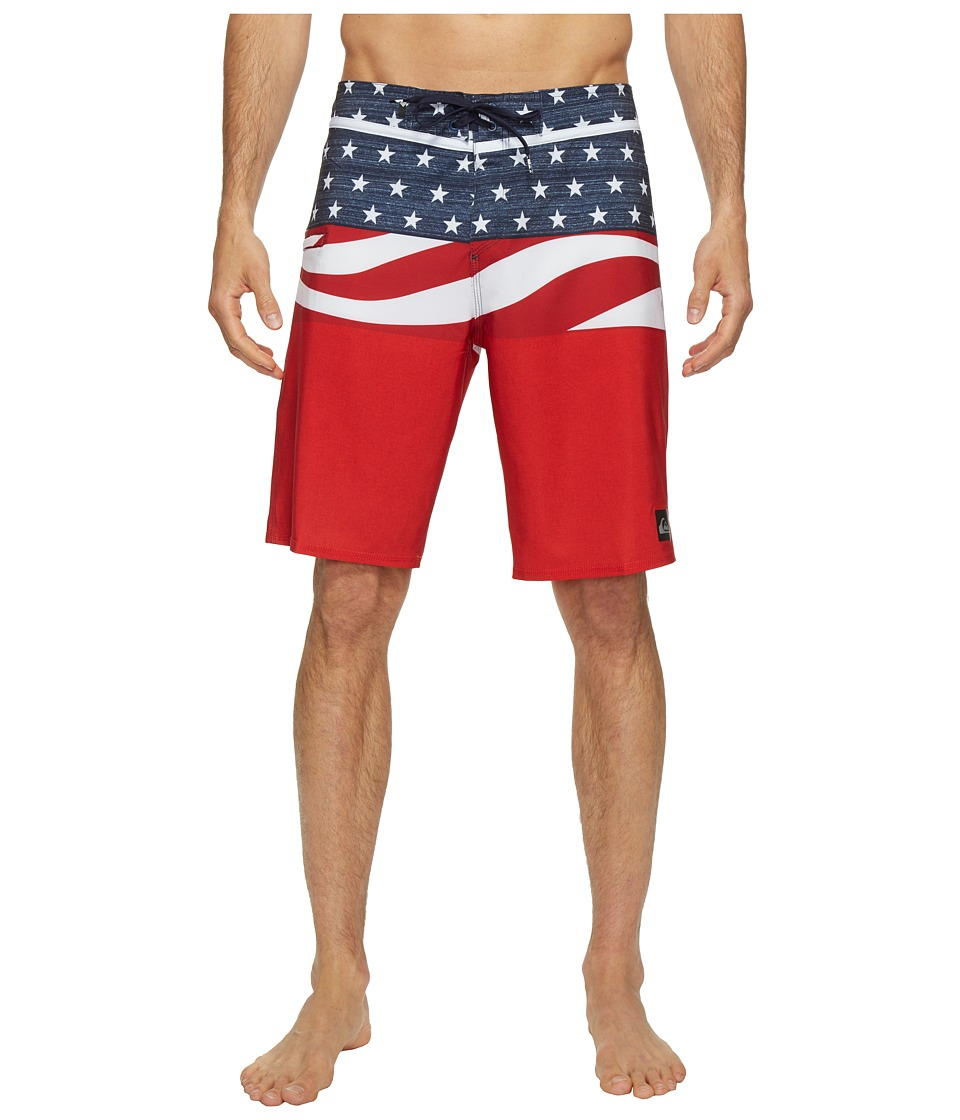 Quiksilver - Everyday Blocked Vee 20 Boardshorts (Quik Red) Men's Swimwear