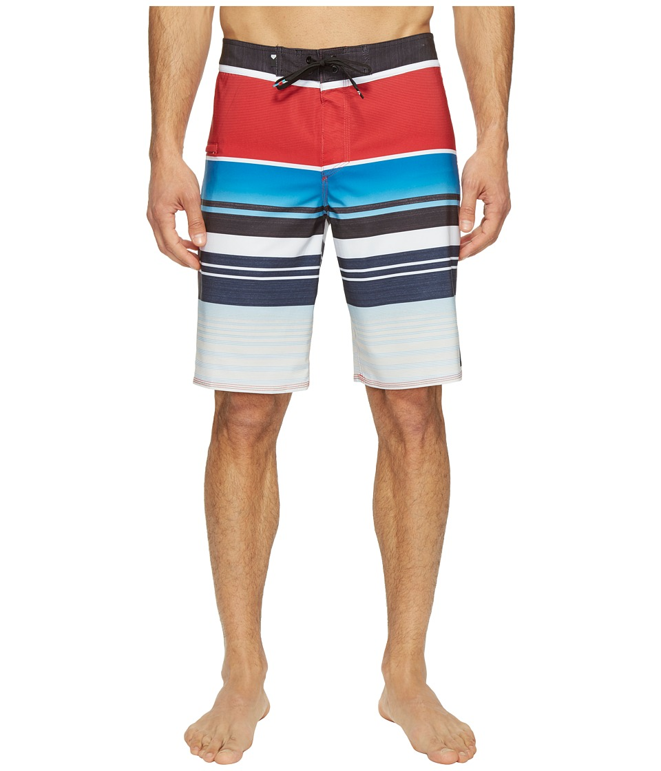 Quiksilver - Everyday Stripe Vee 21 Boardshorts (Chilli Pepper) Men's Swimwear