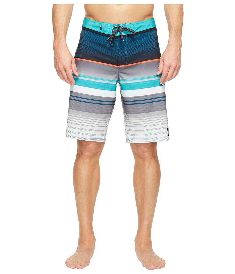 Quiksilver - Everyday Stripe Vee 21 Boardshorts (Viridian Green) Men's Swimwear