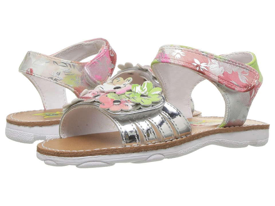 Rachel Kids - Shea (Toddler/Little Kid) (Silver Floral) Girls Shoes
