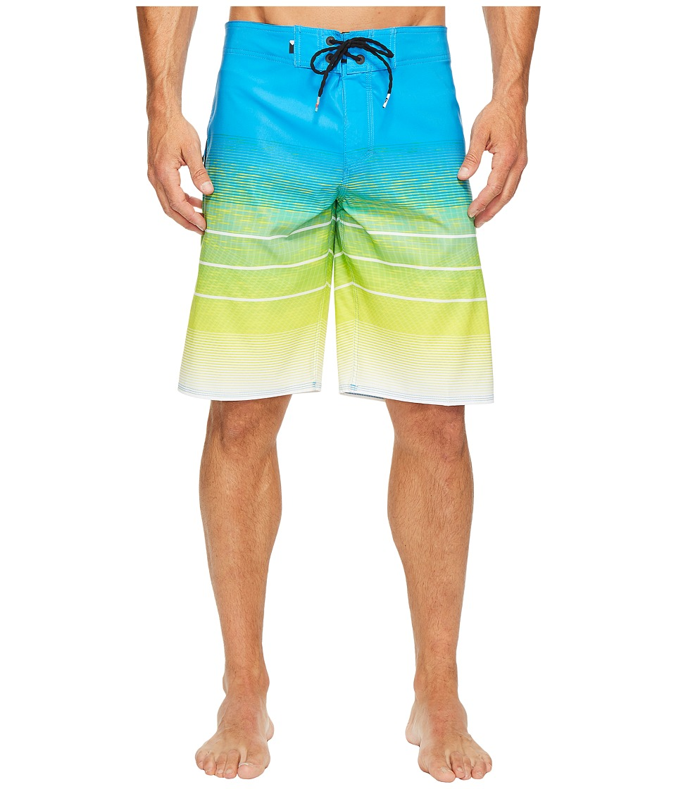Quiksilver Slab Momentum Vee 21 Boardshorts (Brilliant Blue) Men