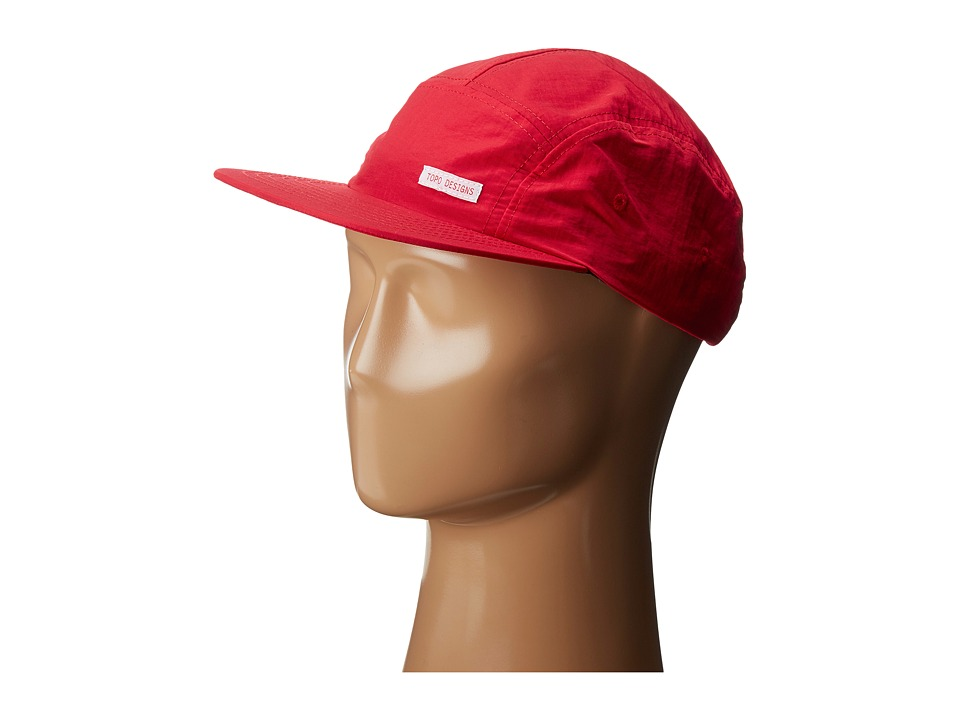 Topo Designs - Nylon Camp Hat (Red) Caps