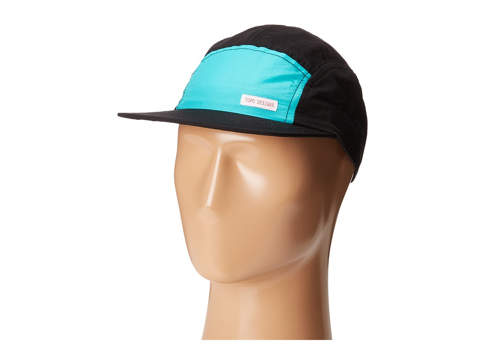Topo Designs - Nylon Camp Hat (Turquoise/Black) Caps