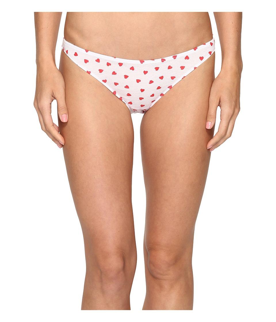 Only Hearts - Heritage Heart Supima Cotton Bikini (White/Rosehip) Women's Underwear