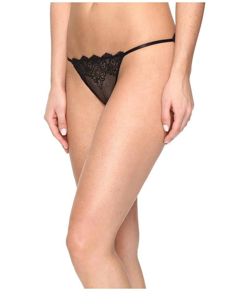 Only Hearts - So Fine w/ Lace String Bikini (Black) Women's Underwear