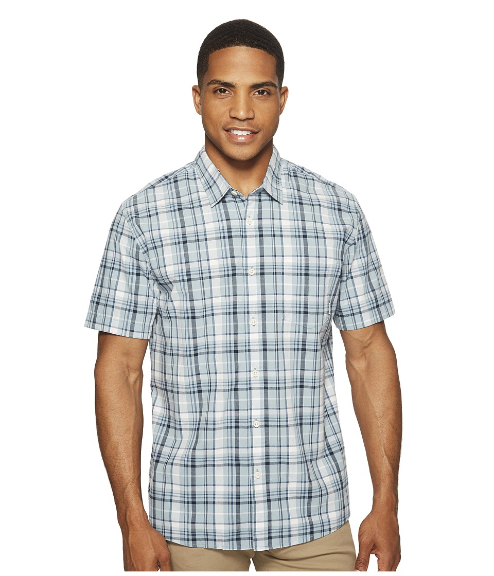 Quiksilver - Everyday Check Short Sleeve Woven (Stone Blue) Men's Clothing