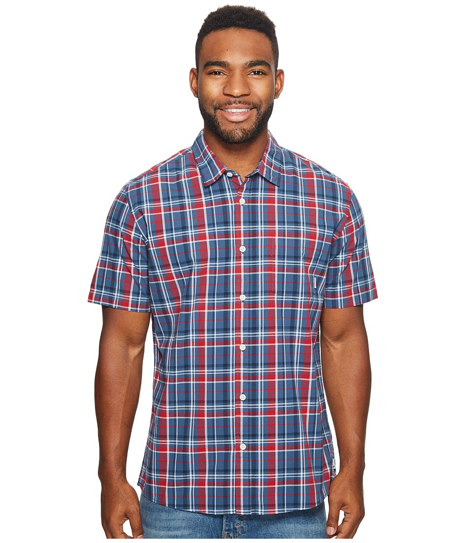 Quiksilver - Everyday Check Short Sleeve Woven (Dark Denim) Men's Clothing