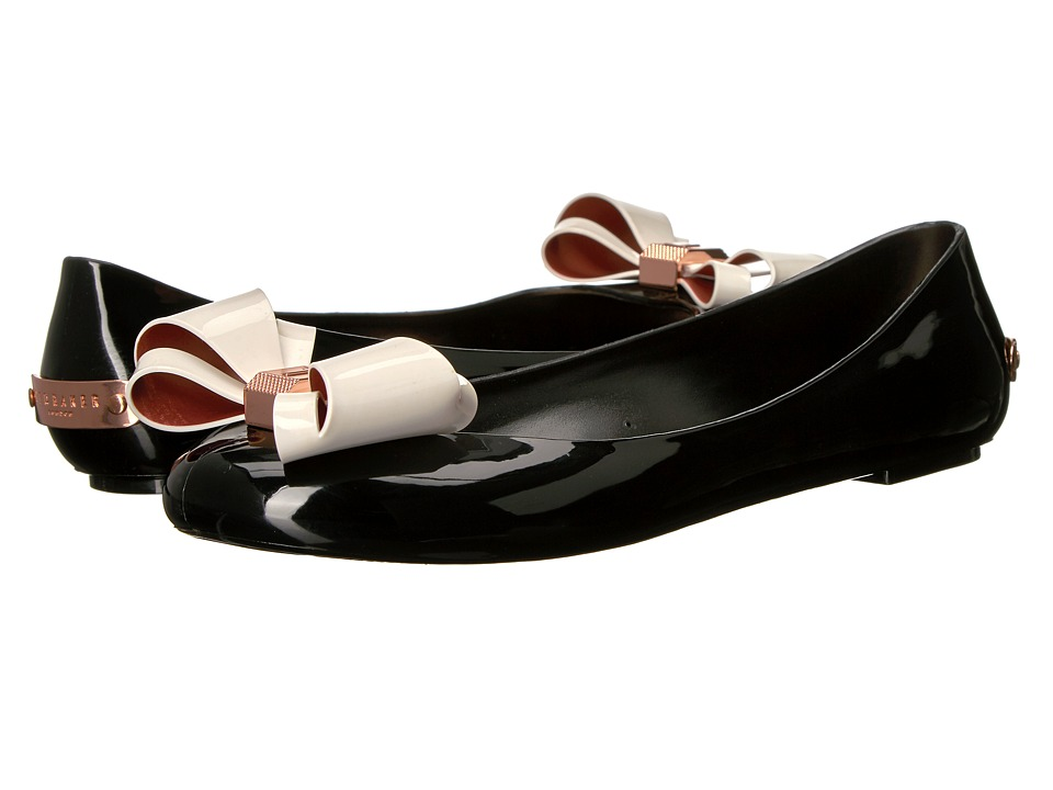 Ted Baker - Julivia (Black/Cream PVC) Women's Slip on Shoes