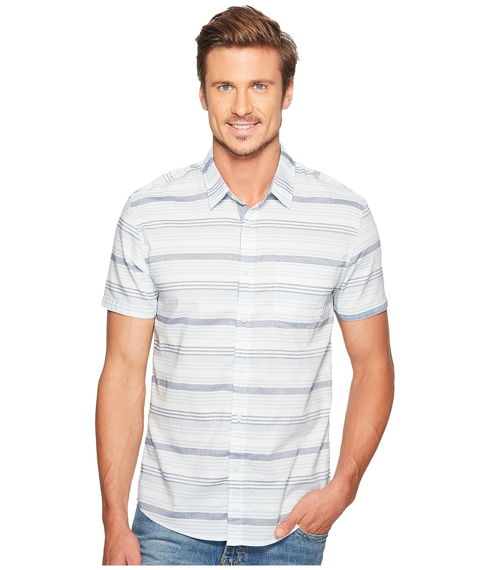 Quiksilver - Aventail Short Sleeve Woven (Angel Falls) Men's Short Sleeve Pullover