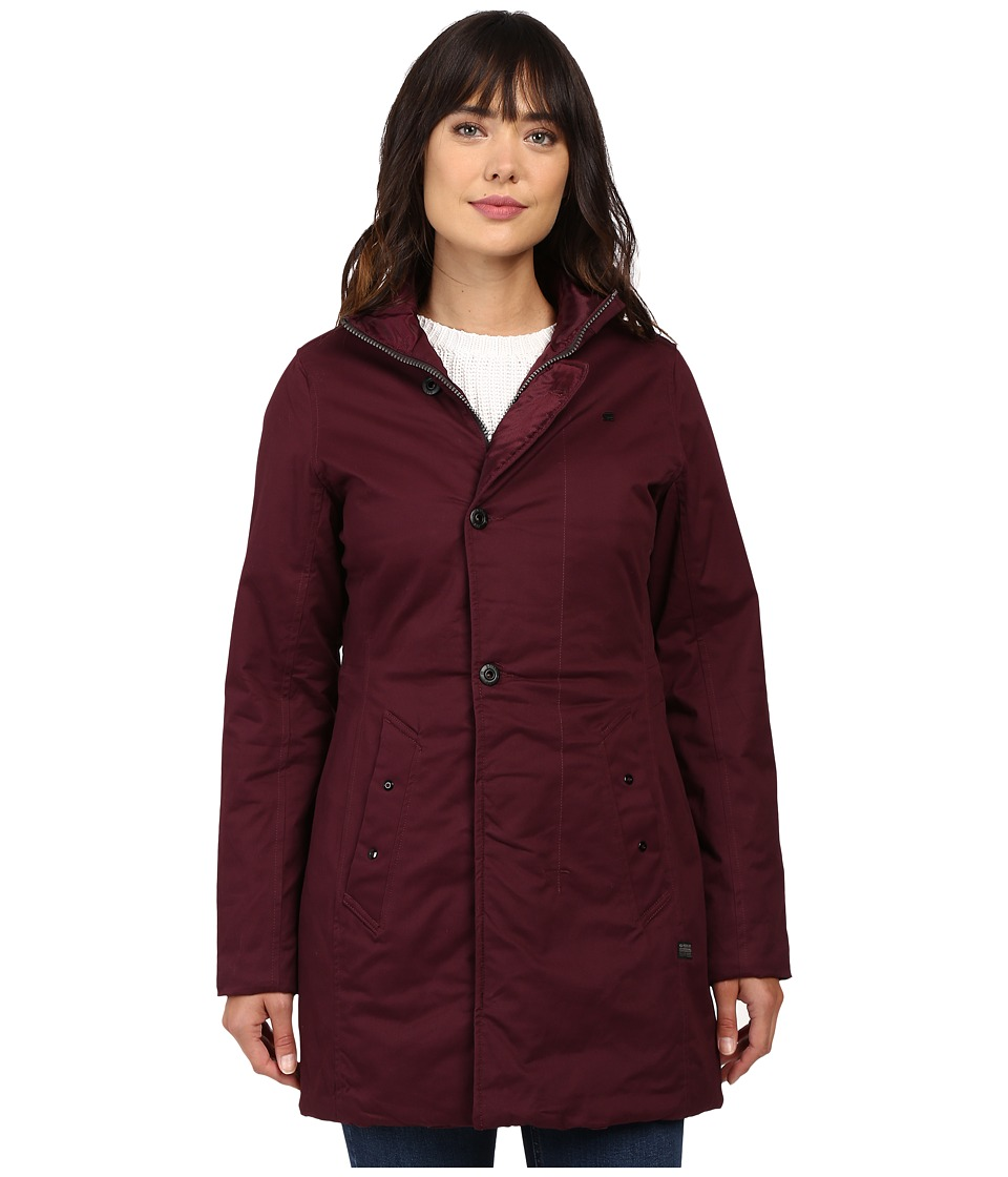 G-Star - Minor Classic Coat (Maroon) Women's Coat