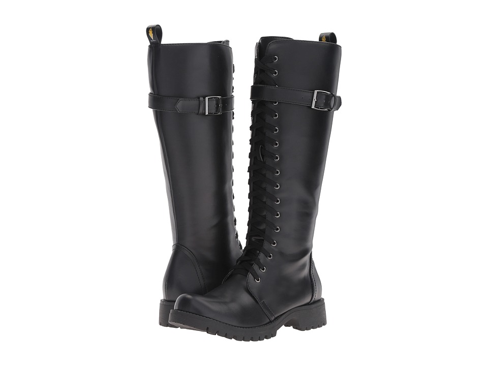 VOLATILE - Revenge (Black) Women's Lace-up Boots