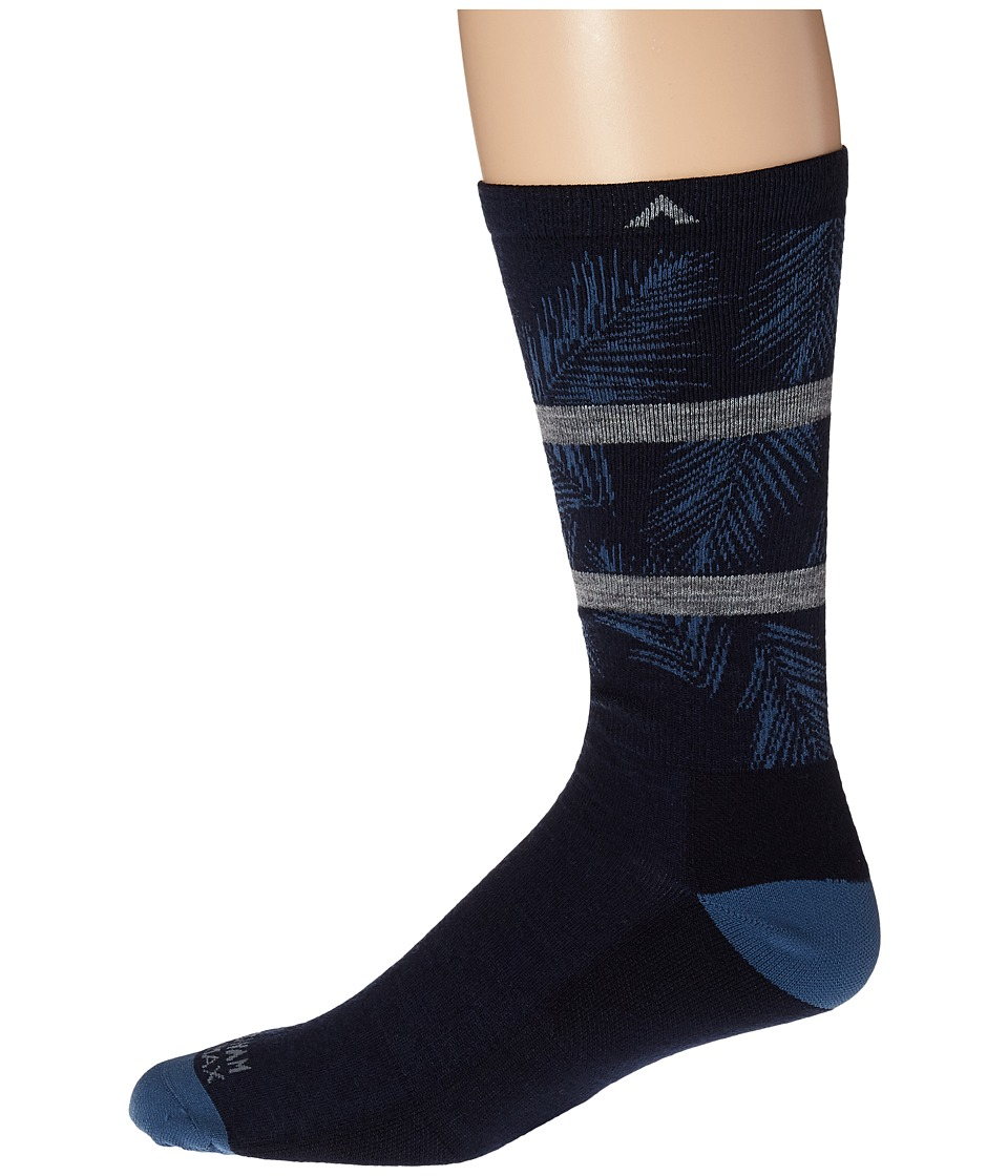Wigwam - Makua Valley Pro (Navy) Men's Crew Cut Socks Shoes