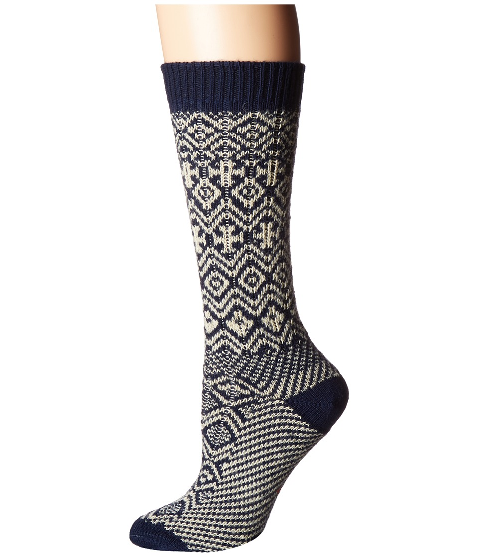 Wigwam - Rorvik (Navy) Women's Crew Cut Socks Shoes