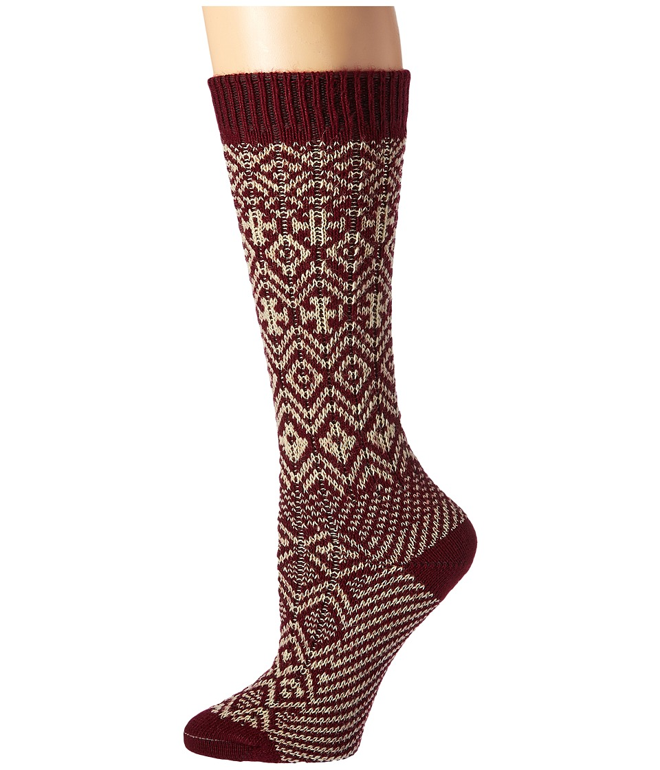 Wigwam - Rorvik (Maroon) Women's Crew Cut Socks Shoes