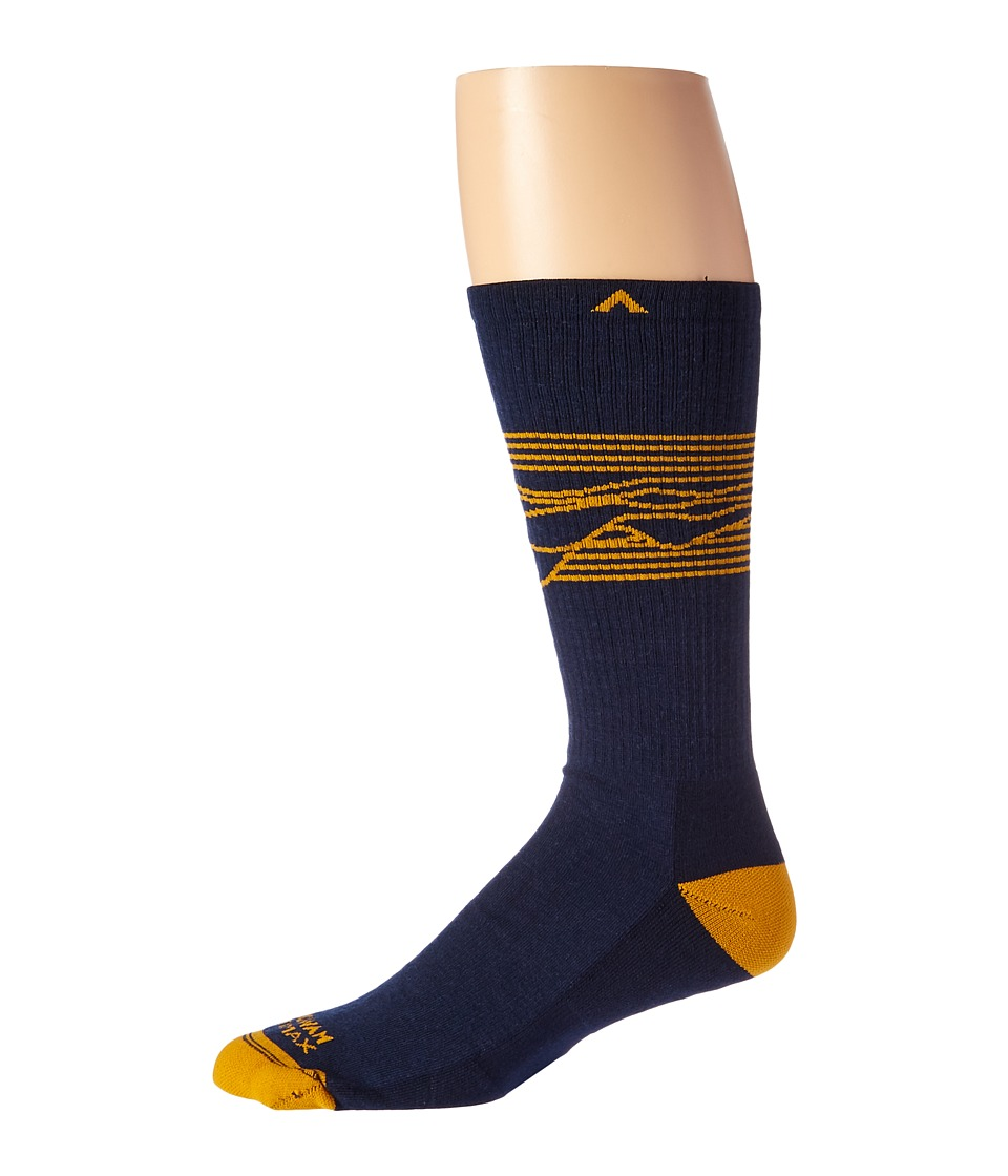 Wigwam - West Rim Pro (Navy) Men's Crew Cut Socks Shoes