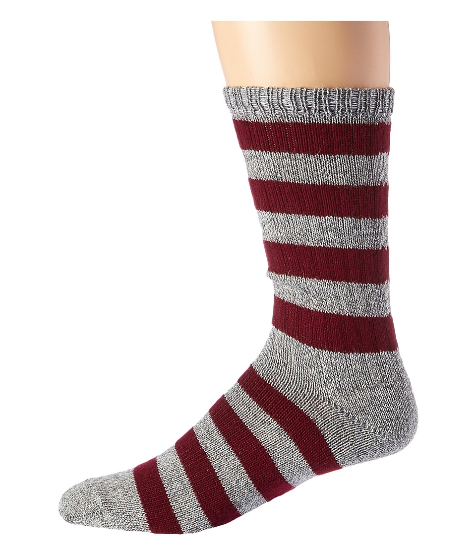 Wigwam - Scrum (Grey/Maroon) Men's Crew Cut Socks Shoes