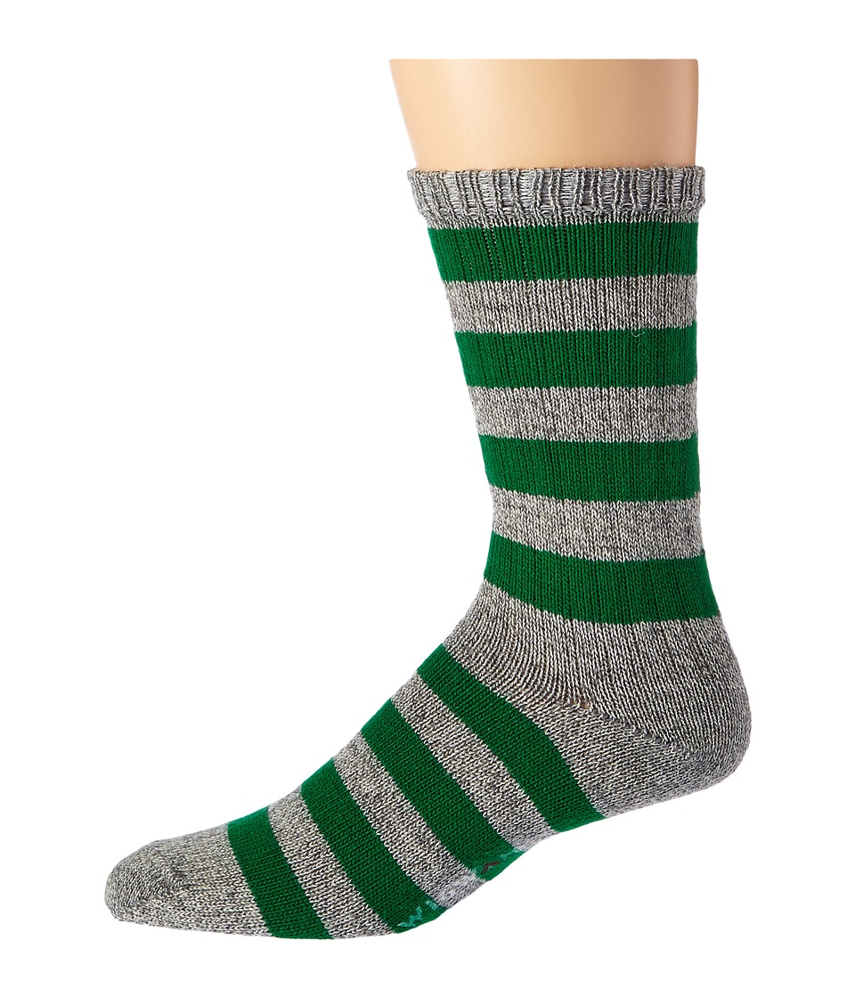 Wigwam - Scrum (Grey/Green) Men's Crew Cut Socks Shoes