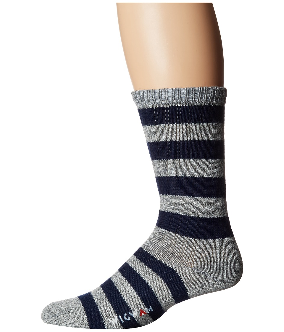 Wigwam - Scrum (Grey/Navy) Men's Crew Cut Socks Shoes