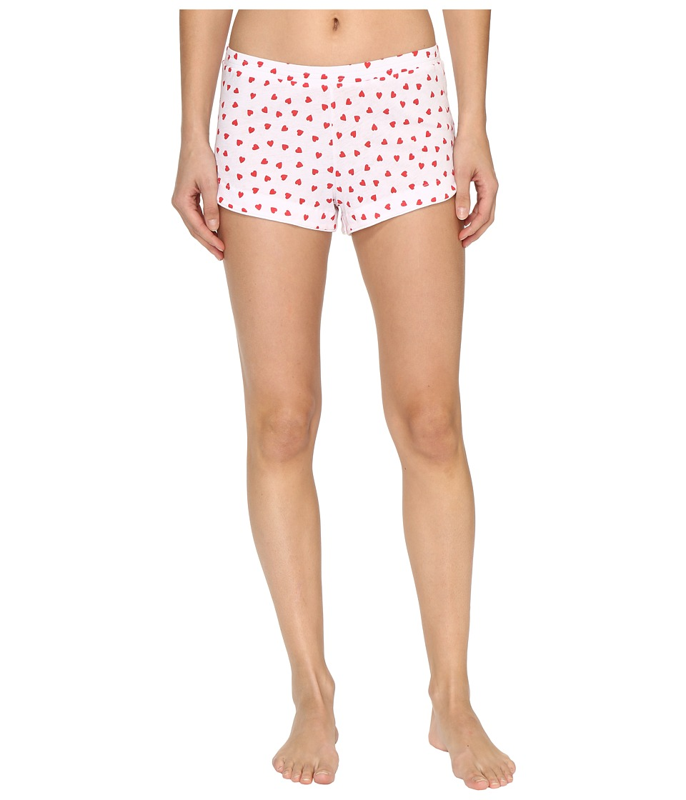 Only Hearts - Heritage Heart Supima Cotton Tulip Boxer (White/Rosehip) Women's Underwear