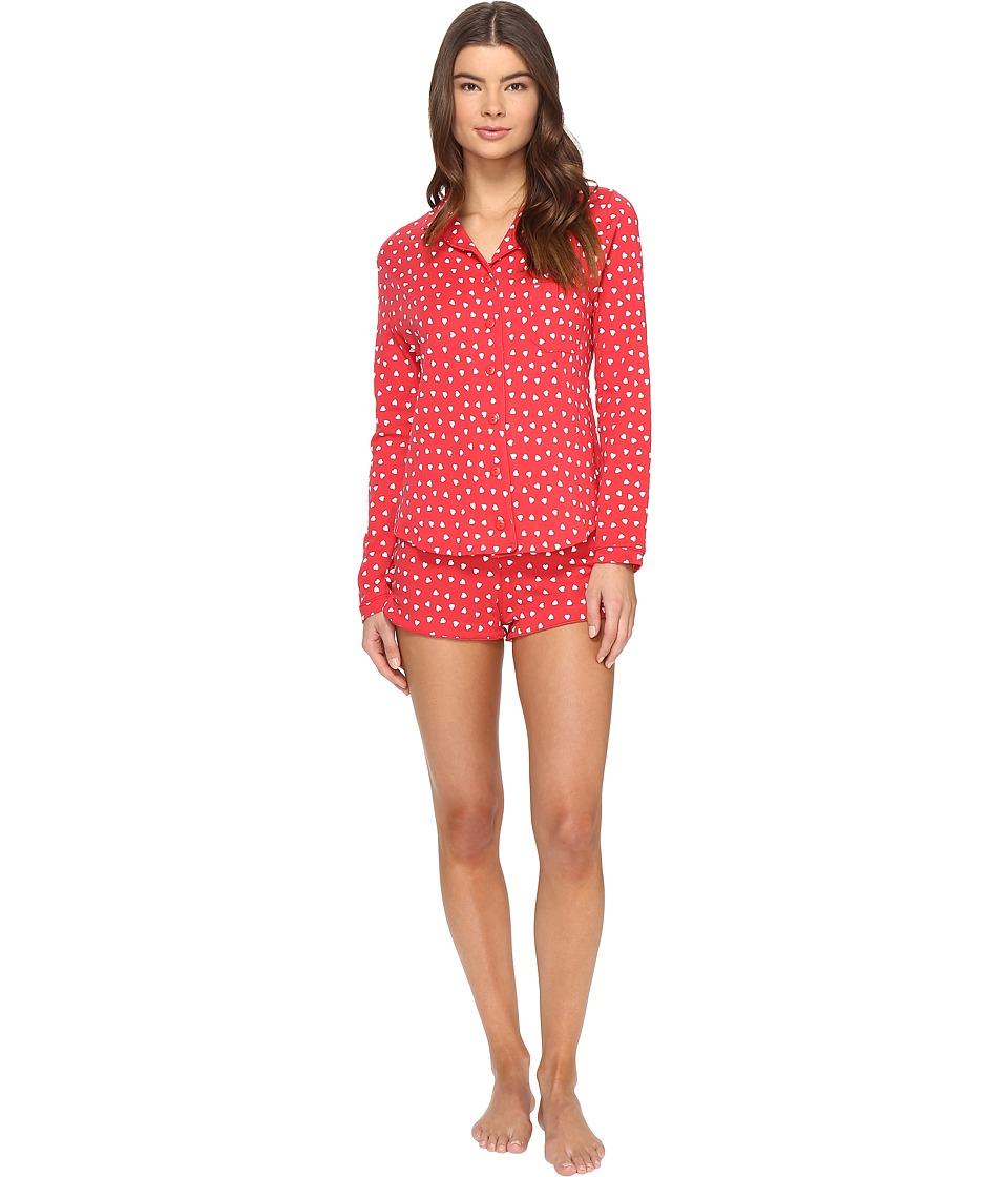 Only Hearts - Heritage Heart Supima Shorty PJ (Rosehip/White) Women's Pajama Sets