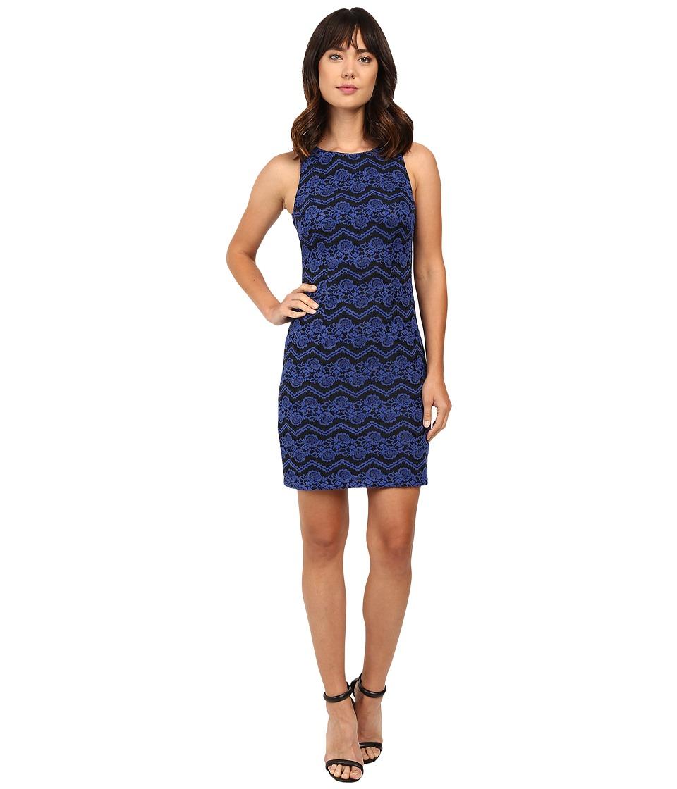 Jessica Simpson - Dress JS6D8956 (Sapphire/Black) Women's Dress