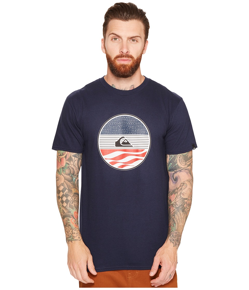 Quiksilver - Block Party Tee (Navy Blazer) Men's T Shirt