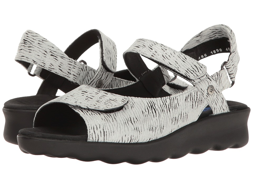 Wolky - Pichu (Black Croco) Women's Sandals