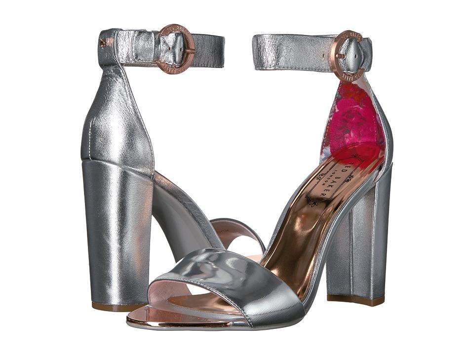 Ted Baker Secoa (Silver Metallic Leather) High Heels