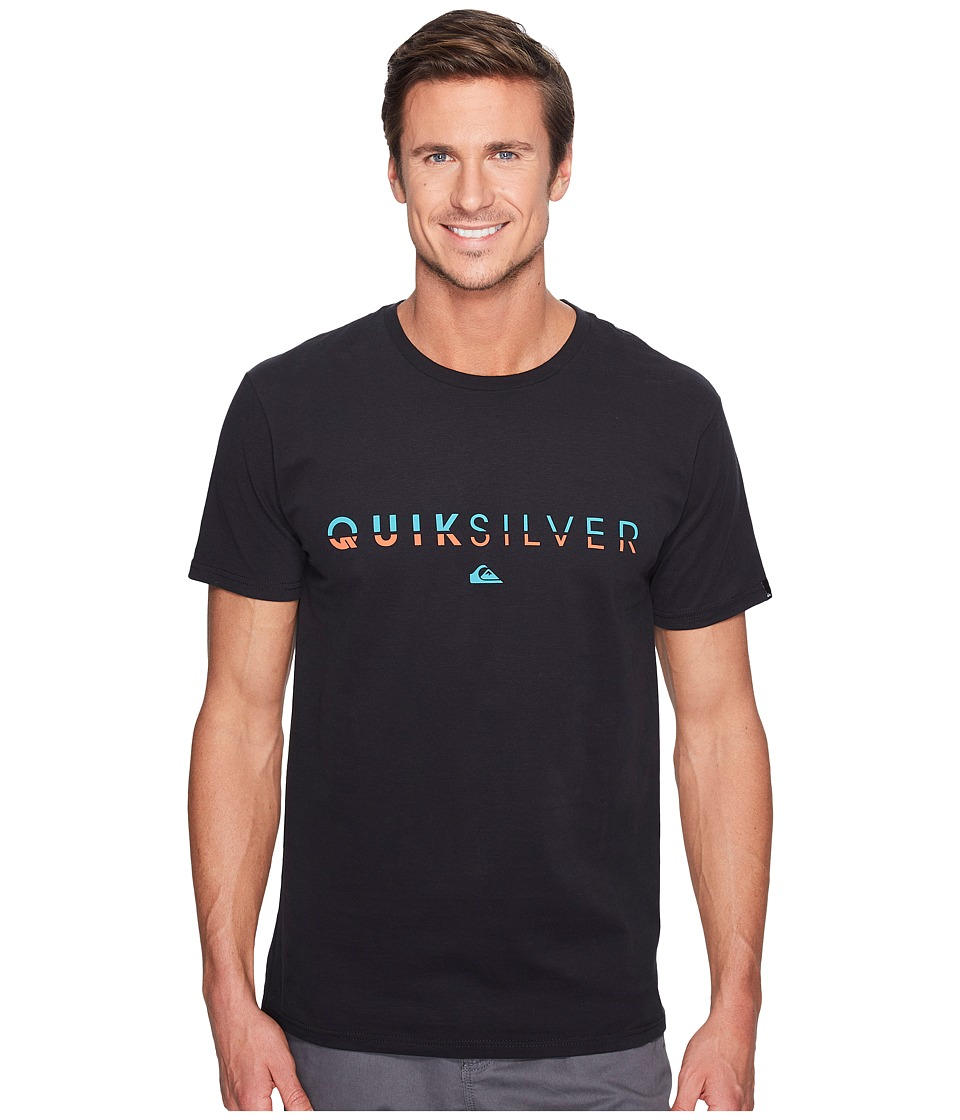 Quiksilver - Line Up Tee (Black) Men's T Shirt