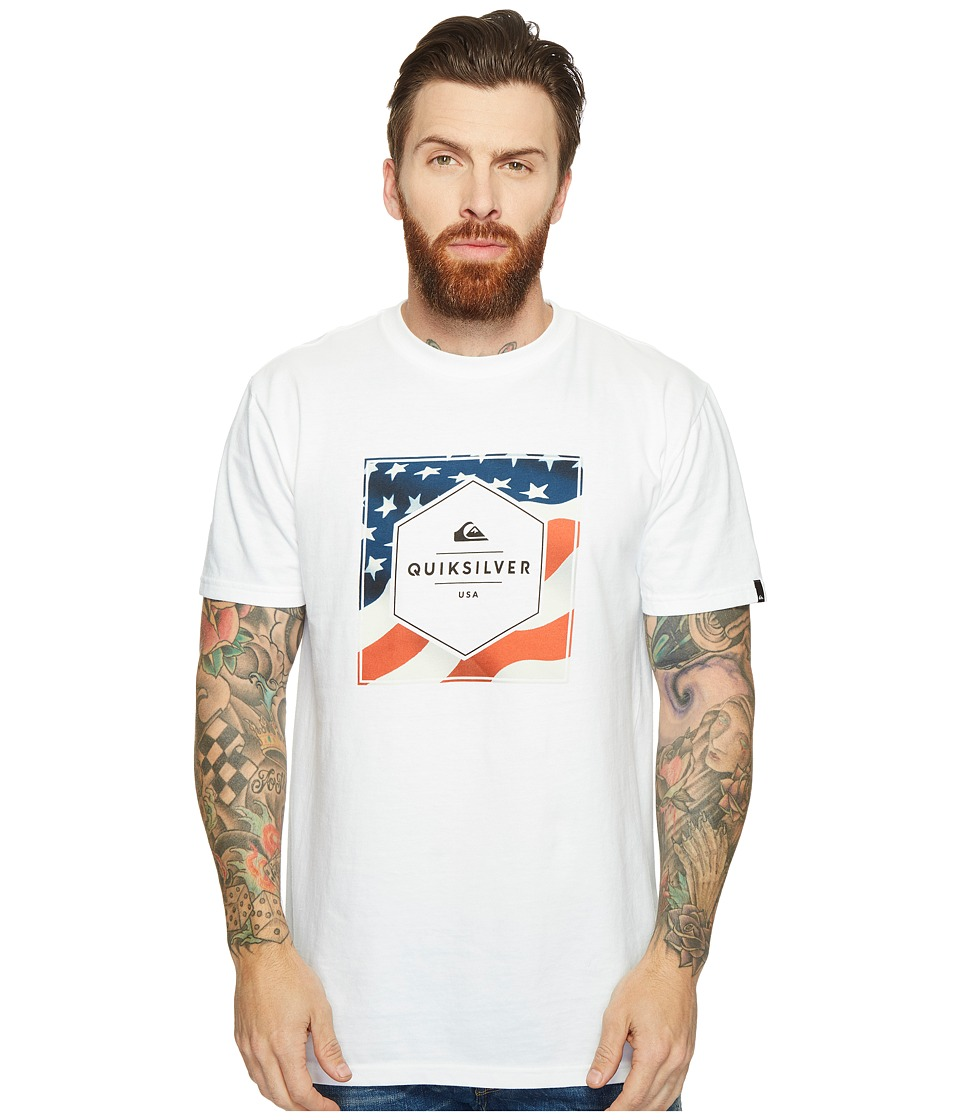 Quiksilver - Stars and Stripes Tee (White) Men's T Shirt