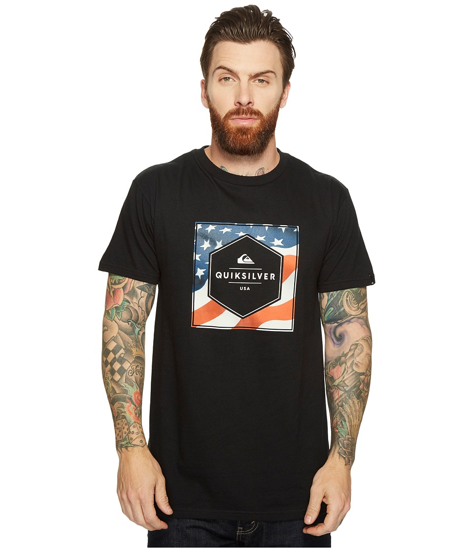 Quiksilver - Stars and Stripes Tee (Black) Men's T Shirt