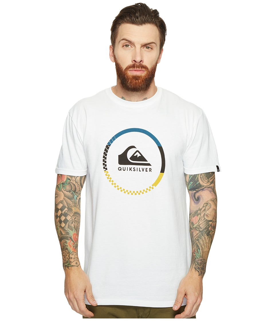 Quiksilver - Active Logo Blocked Tee (White) Men's T Shirt