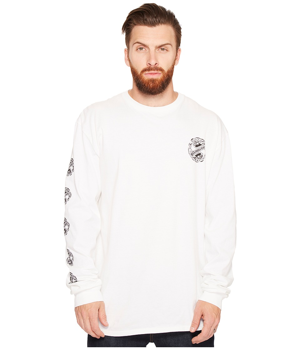 Quiksilver - Tribe Tribe Long Sleeve Tee (White) Men's T Shirt