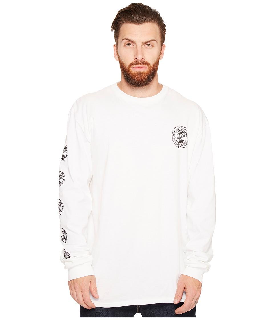 Quiksilver - Tribe Tribe Long Sleeve Tee (White) Men's T Shirt
